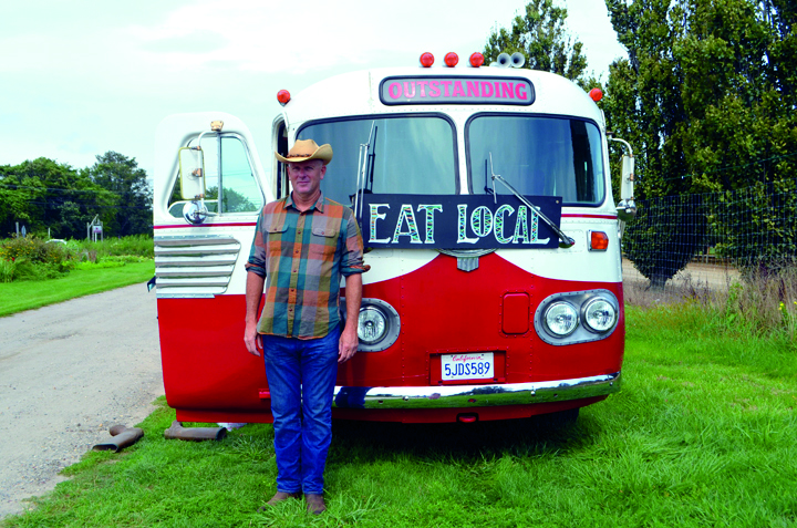 Artist and chef Jim Denevan's well-known Outstanding in the field farm dinners are the focus of a documentary by the same name. Photo: Courtesy of Patrick Trefz