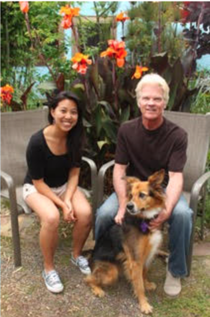 Author Paul Gallagher pictured with the book's illustrator Monica Chenglo