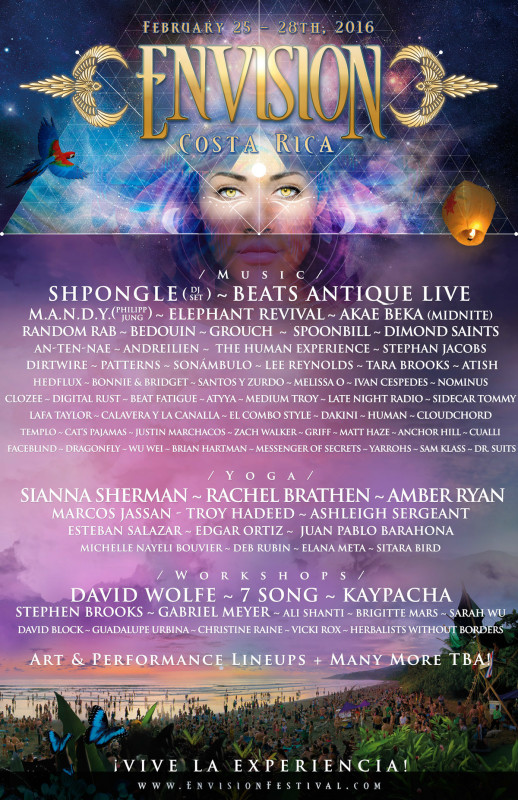 Envision Festival artist lineup