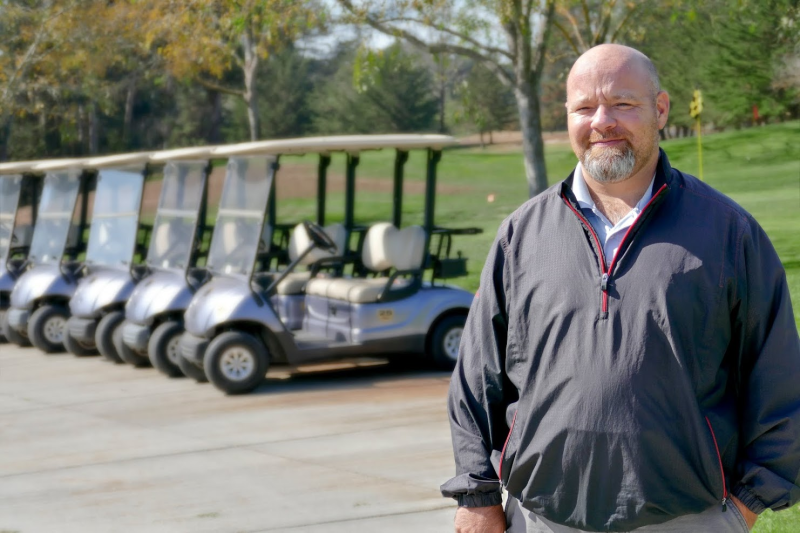 At Delaveaga Golf Course, Superintendent Miles Hicks says water-saving efforts began 10 years ago. Photo by Paul Topp