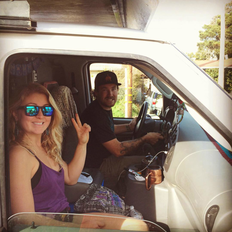 Marsh and his co-pilot, fellow Santa Cruz local Alex Beck pictured just before embarking on their road trip south.