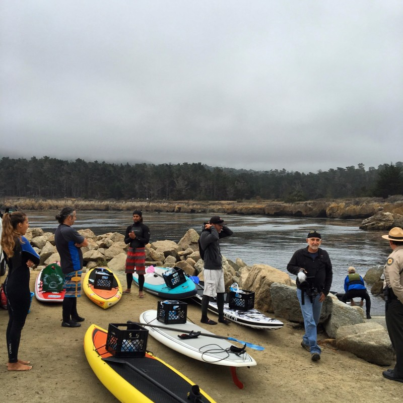 Brent Allen Outside Point Lobos Cleanup with Save Our Shores