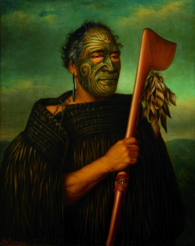 Gottfried Lindauer  Tamati Waka Nene  1890  oil on canvas  Auckland Art Gallery Toi o Tamaki, gift of Mr H E Partridge, 1915