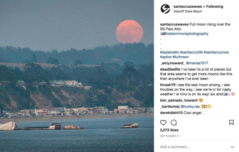 Moonrise over Seacliff! image: