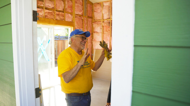 Executive Director of Habitat for Humanity Monterey Bay David Foster, at the job site for the first My House My Home pilot.