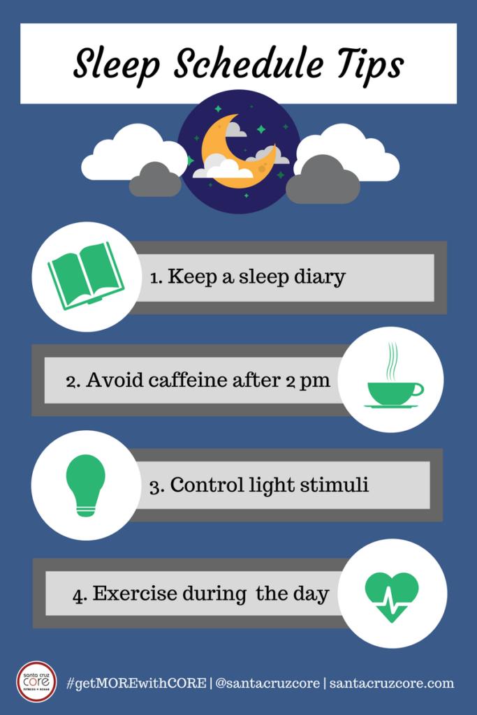 sleep schedule tips santa cruz core