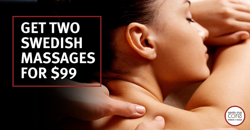 santa cruz core massage deal 2 for 99